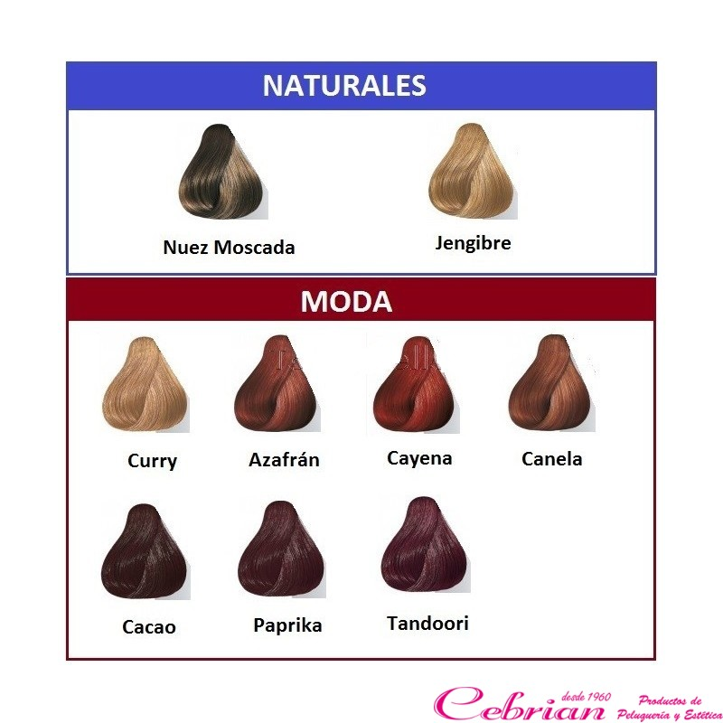 Eos wella coloraci n vegetal 120 grs color nuez moscada - Bano de color wella ...