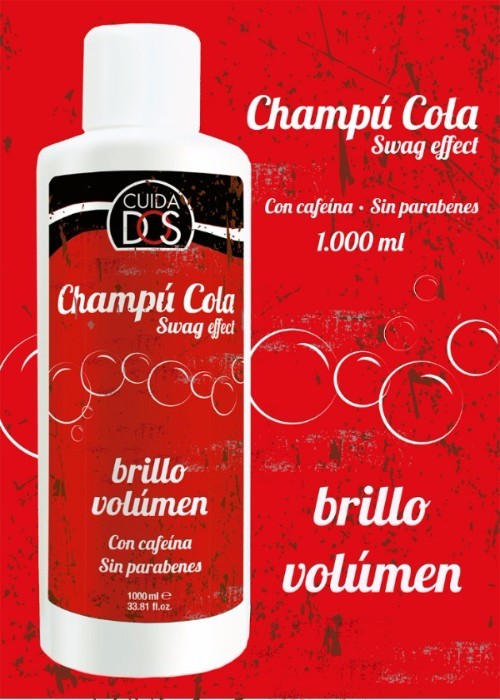 Champú Swag Cola con Cafeina, Brillo y Volumen 1.000 ML