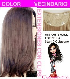 clip on star-10 colágeno extensiones