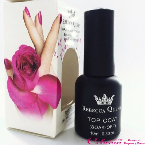 top coat uñas rebecca queen