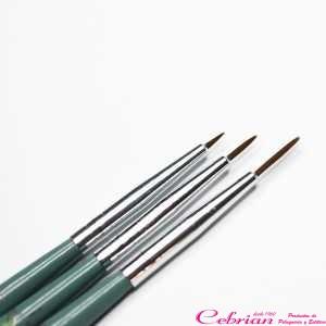 kit 3 pinceles para uñas rebecca queen