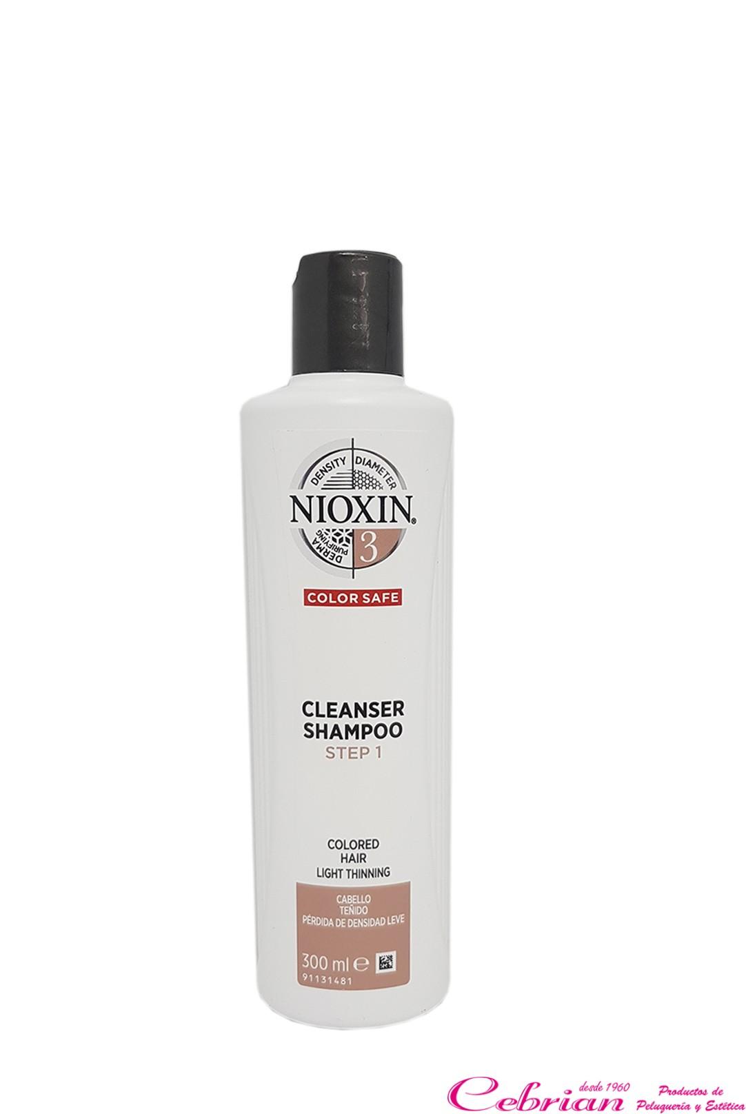 Nioxin Cleanser Champú 3 | Cebrián Tienda de Peluquería Online